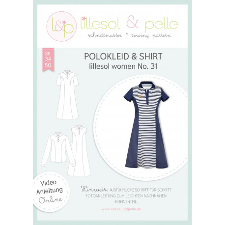 Polokleid & Shirt - Women No. 31 by lillesol & pelle, Papierschnitt