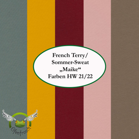 """0,1m Sommer-Sweat French Terry """"Maike"""" HW 21/22"""