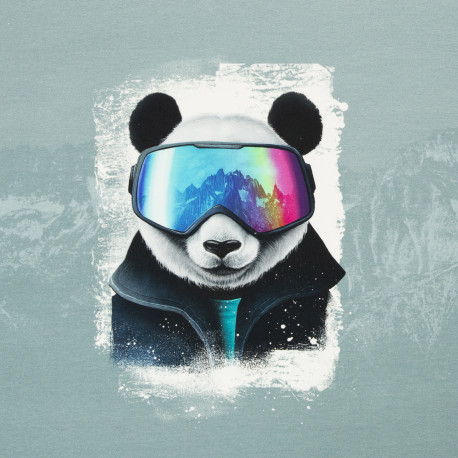 """1 Panel Sweat French Terry """"Snow Panda"""" by Thorsten Berger"""