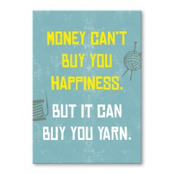 Postkarte - Money can't buy happiness