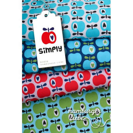 """0,1m Jersey """"Simply Apples"""""""