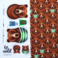 """1 Rapport  Jersey """"Be wild"""" Grumpy Grizzly"""