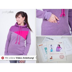 "Kapuzenpullover ""Nelly"" Hoodie by pattydoo, Papierschnittmuster"