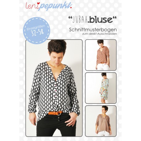 "Bluse ""JUBAH.bluse"" Gr. 32-58 by leni pepunkt, Papierschnittmuster"