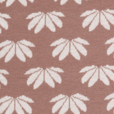 "0,1m Jacquard-Jersey ""Winter Flower"" by Lila-Lotta"