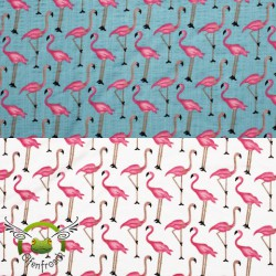 "0,1m Double Gauze / Musselin ""Flamingo"""