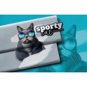 "1 Panel French Terry ""Sporty Cat"" by Thorsten Berger"