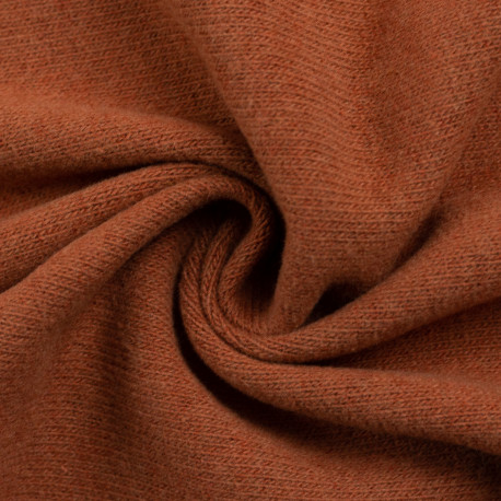 "0,1m Strickstoff ""Bono"" angeraut - terracotta - *Made in Italy"