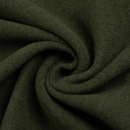 "0,1m Strickstoff ""Bono"" angeraut - khaki - *Made in Italy"