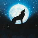 """1 Panel French Terry """"Wolf Moon 2.0"""" by lycklig design"""