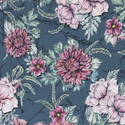"0,1m Jersey ""Watercolor Garden"" by Lila-Lotta"