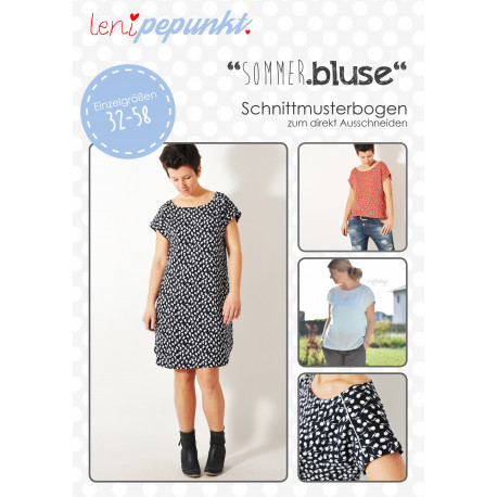 """Bluse """"SOMMER.bluse"""" Gr. 32-58 by leni pepunkt, Papierschnittmuster"""