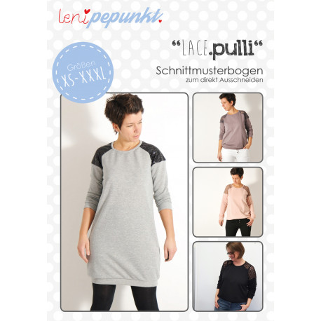 """Pullover """"LACE.pulli"""" by leni pepunkt, Papierschnittmuster"""